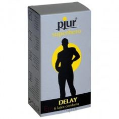 Prezerwatwy - Pjur Superhero Delay Condoms 6 szt