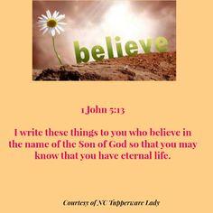 1 John 5:13 #believe