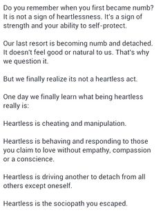 Gee thanks, you're a Heartless sociopath A Help for narcissistic sociopath relationship survivors