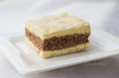 Možno tento krémeš poznáte. Je to starý recept a krémeš sa mi vždy vydarí. Spodný a vrchný plát tvorí lístkové cesto, stredná piškóta je orechová a krém je klasický pudingový s maslom a rumom. Ďalšie inšpirácie na výborné krémeše nájdete v našom špeciálnom krémešovom výbere :) Tiramisu, Cheesecake, Treats, Sweet, Ethnic Recipes, Basket, Sweet Like Candy, Candy, Goodies