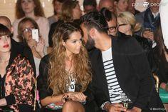 Nabilla Benattia et son petit ami Thomas Vergara - People au défilé de mode Jean Paul Gaultier...
