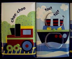 Transportation Light Switch Cover / Outlet by cathyscraftycovers