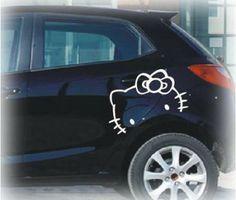 Sanrio Hello Kitty Logo Face Car Motor Truck Auto Vinyl Sticker Graphic Decal
