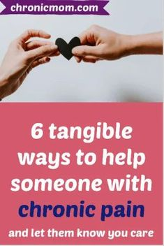 It's always hard to know how to help or support someone with chronic pain. You might feel clueless and helpless and you want to do something about it. Here's 6 tangible suggestions to help someone with chronic pain. Chronic Anemia, Chronic Fatigue, Chronic Illness, Chronic Pain, Feeling Helpless, Feeling Sick, Five Love Languages, Invisible Illness, Staying Alive