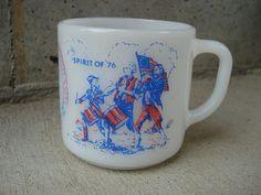 Fire King Bicentennial Pyrex Style Mug. $7.00, via Etsy.