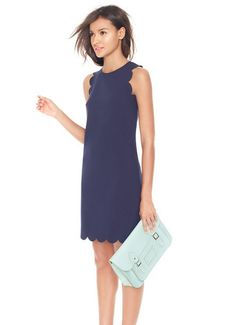 This is so pretty and classic.  Could dress up or down.  Navy and Mint Green