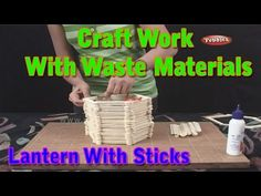 Lantern | Craft Work With Waste Materials | Learn Craft For Kids | Waste Material Craft Work