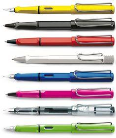 Lamy Safari Lamy Fountain Pen, Sailor Pens, Pen Brands, Stationery Pens, Best Pens, Writing Instruments, Safari, Cool Designs, Pencil