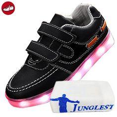 [Present:kleines Handtuch]c5 EU 37, Farbwechsel Light Sneakers Top Neu Leuchtende Schuhe weise High Licht JUNGLEST® Bli