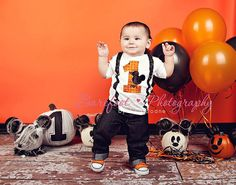Boys Halloween Mickey Mouse First Birthday Shirt by HomeArtsBoerne