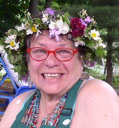 We made flower crowns for Summer Solstice celebration at RiverSong on Kennebec