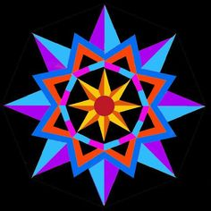 Sun Star paper pieced blockfaInitWnd|1394512254 - via @Craftsy