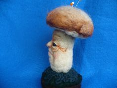 Needle felted Mushroom Toadstool Collectible by grannancan on Etsy, $22.00