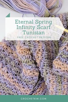 The way the color changes and the look of the yarn always makes me think that I'm using a much more expensive luxury yarn. Tunisian Crochet Patterns, Knitting Patterns, Knitting Tutorials, Lace Patterns, Stitch Patterns, Scarf Patterns, Free Crochet, Crochet Cowls, Crochet Granny