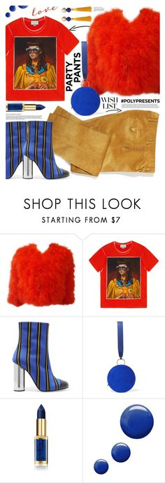 """""""PolyPresents"""" by tinkabella222 ❤ liked on Polyvore featuring Sonia Rykiel, Gucci, Marco de Vincenzo, Diane Von Furstenberg, L'Oréal Paris, Topshop, MANGO, WishList, contestentry and Fancypants"""