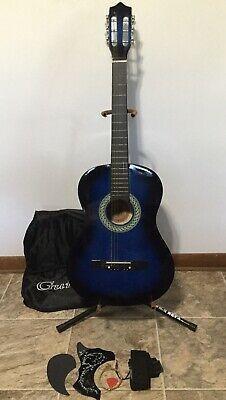 Nice Bridgecraft Usa Blue 38 Acoustic Guitar Rh W Guitar Acoustic Guitar Acoustic