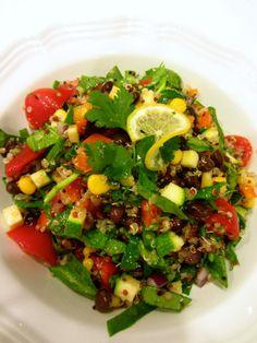 Quick  Easy Southwest Quinoa Salad - Chef Kerri Anne http://chefkerrianne.blogspot.com/2014/02/new-recipe-quick-easy-southwest-quinoa.html