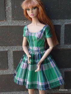 Vestido para muñecas Barbie y Poppy Parker.