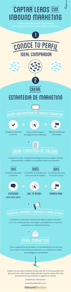 Captar leads con Inbound Marketing #infografia #infographic #marketing