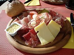Walliserplatte - typical Swiss country lunch. I could live on this! :)