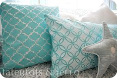 Stenciled pillows