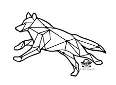 Geometric wolf tattoo design based off the actual Lupus constellation by JWo Designs