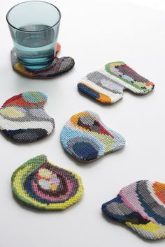 Cross Stitch - no instructions but loved the colors & shape if you already cross stitch.