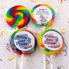 """Lollipops for favors for baby shower """"shes about to pop!"""" labels will say:  thanks for POPping by!"""