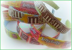 Great idea! Candy Wrapper Headbands- These would be easy to make-