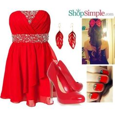 Red themed Outfit #ShopSimple
