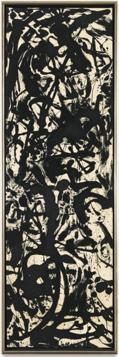 loverofbeauty:  Jackson Pollock:  Black and White Painting   (1952)