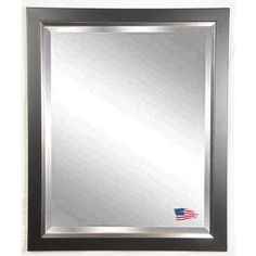 Rayne Mirrors Jovie Jane Black with Silver Lining Wall Mirror | Wayfair