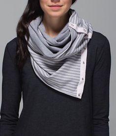 Lululemon Vinyasa scarf  Double Trouble Stripe Neutral Blush
