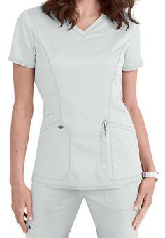 Dickies Medical Scrubs Women's Essence White Princess Line Top Sz XS- Cute Nursing Scrubs, Landau Scrubs, White Scrubs, Princess Line, Scrubs Uniform, Medical Uniforms, Medical Scrubs, Peeling, Womens Fashion For Work