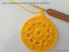 Diandra Arte em Crochê: PAP- TRILHO DE MESA RAIO DE SOL Crochet Doily Diagram, Crochet Doilies, Crochet Gratis, Free Crochet, Yellow Pattern, Free Knitting, Knitted Hats, Free Pattern, Create Your Own