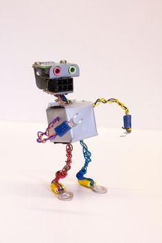 "Robot Found Object Sculpture made from Computer Parts ""Cliff"". 24.00, via Etsy."