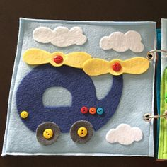 Helicopter Quiet Book Page by HannasQuietBooks on Etsy