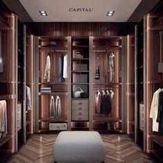Wardrobe Room, Wardrobe Design Bedroom, Walk In Wardrobe, Closet Bedroom, Bedroom Decor, Walk In Closet Design, Closet Designs, Dressing Room Design, Luxury Closet