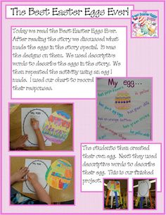 best easter egg ever writing (descriptive words) and craft