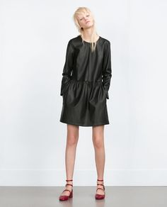 ZARA - WOMAN - FAUX LEATHER DRESS