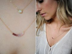 DIY Delicate Necklace from Cupcakes and Cashmere