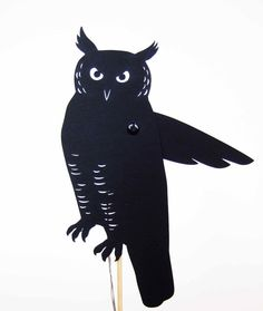 Owl Shadow Puppet by owlyshadowpuppets on Etsy, $12.00
