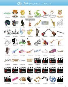 Mascots-Music & Drama Clipart