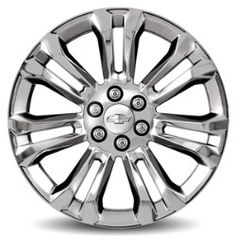 Sierra 1500 22 inch Wheels, Chrome, CK159 SES:Personalize your Sierra with these 22-Inch Chrome Accessory Wheels.