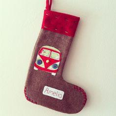 Personalised Christmas Campervan Stocking £9.99