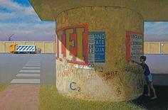 The Graffiti Artist, 2006-07, by Jeffrey Smart