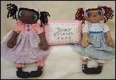 """Bestest Friends XOXO - Rag Dolls 6"""" inch  from You Can Make This"""