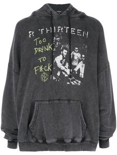R 13 oversized slogan print hoodie Mode Dope, Neue Outfits, Looks Vintage, Mode Inspiration, Look Cool, Swagg, Aesthetic Clothes, Size Clothing, Cool Outfits