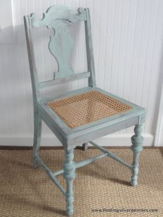 Silver Pennies: Just Ducky!  Duck Egg Blue Chair (how to do a washed effect)