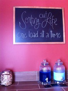 Laundry room chalkboard